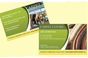 Double sided business cards with a creative, full colour design