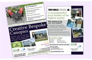 Double sided A5 leaflet design to promote the business