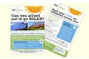 Double sided A5 leaflet design - creative marketing material